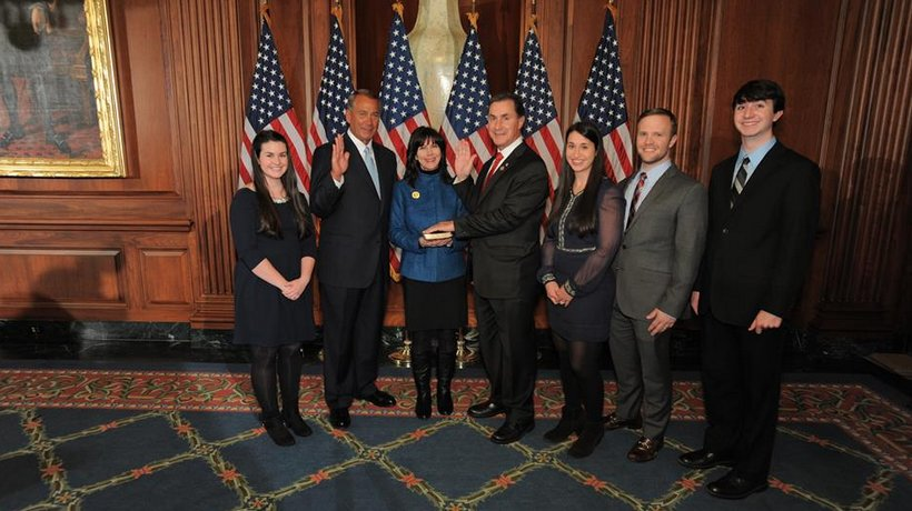 Congressman Gary Palmer's ceremonial swearing in with House Speaker John Boehner on Tuesday, Jan. 6, 2014.