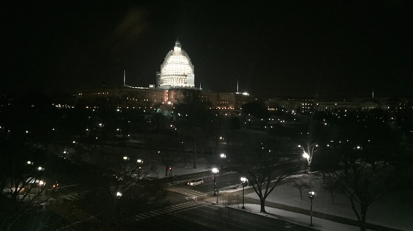View of the U.S. Capitol from Congressman Gary Palmer's dinner celebrating his first day in office (Photo: Yellowhammer)