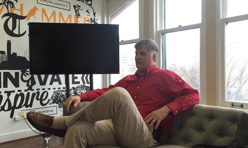 Scott Beason discusses his plans for life after the Alabama senate in the Yellowhammer News offices (Photo: Yellowhammer)