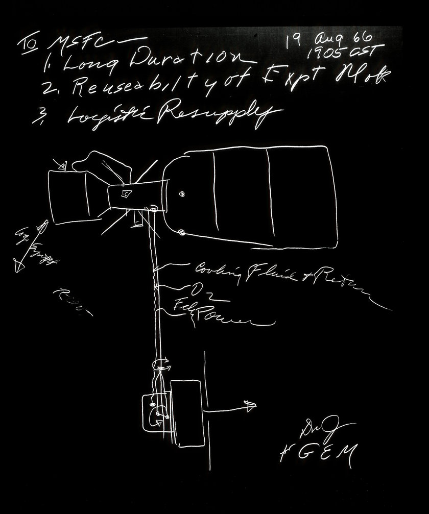 Marshall Space Flight Center Archives Yellowhammer News Lunar Meteorite Caravan Wiring Diagram First Sketch Of Station