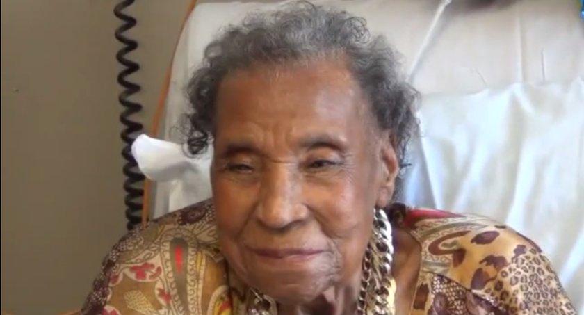 Amelia Boynton Robinson during her 103rd birthday party