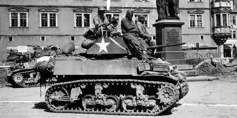 M5A1 Stuart of 761st Tank Battalion (Photo: WWII Database)