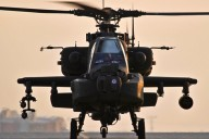 A U.S. Army AH-64 Apache attack helicopter prepares to depart Bagram Air Field, Afghanistan, on Jan 7, 2012.  (Photo: Tech. Sgt. Matt Hecht)