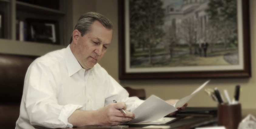 Alabama House Speaker Mike Hubbard in his office at the State House (Photo: YouTube)