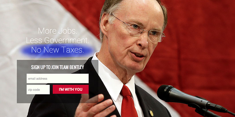 YH Robert Bentley no new taxes