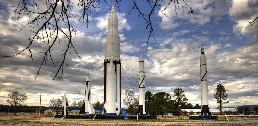 Rocket Park in Huntsville (photo courtesy of the Marshall Space Flight Center)
