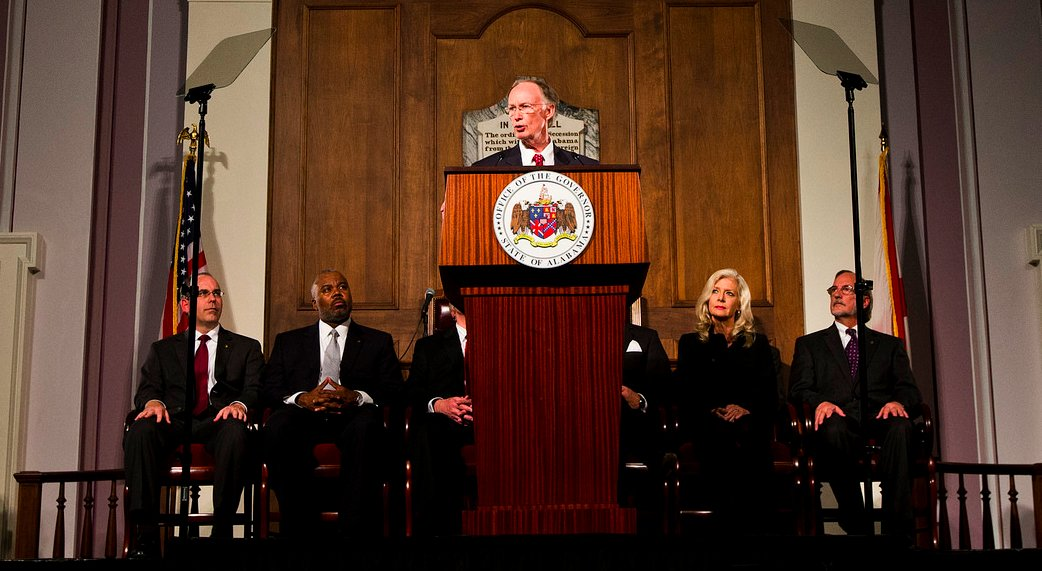 Gov. Robert Bentley delivers the 2015 State of the State Address, Tuesday, March 3, 2015, in the Old House Chamber of the Alabama State Capitol in Montgomery. (Photo: Governor's Office, Jamie Martin)