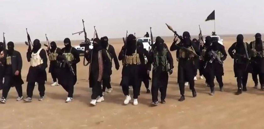 ISIS fighters (photo captured from video)