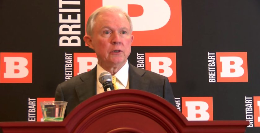 Sen. Sessions speaks at Breitbart News's meet and greet event at CPAC