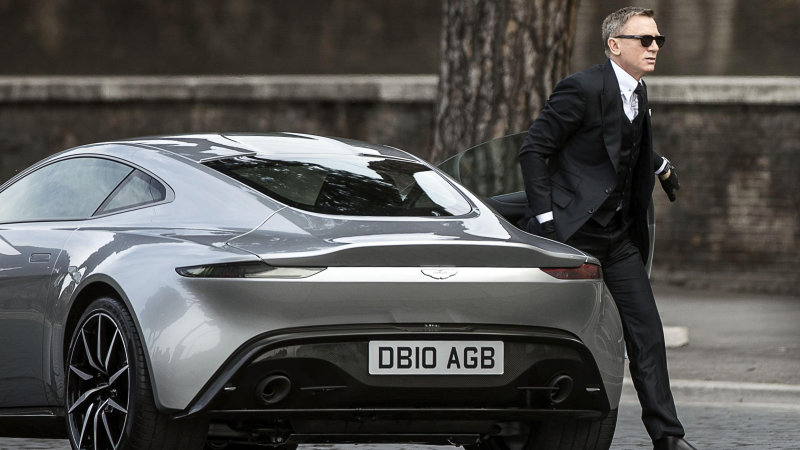 James Bond star Daniel Craig exits an Aston Martin DB10