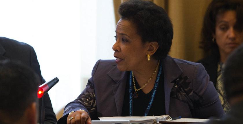 Newly-confirmed U.S. Attorney General Loretta Lynch (photo c/o US Mission Geneva)