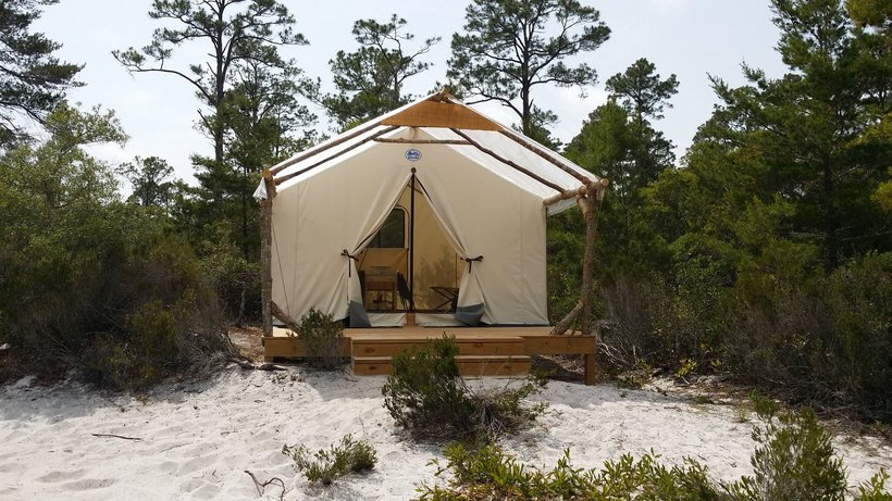 Outpost Campsite at Gulf State Park. (Photo: Gulf State Park)