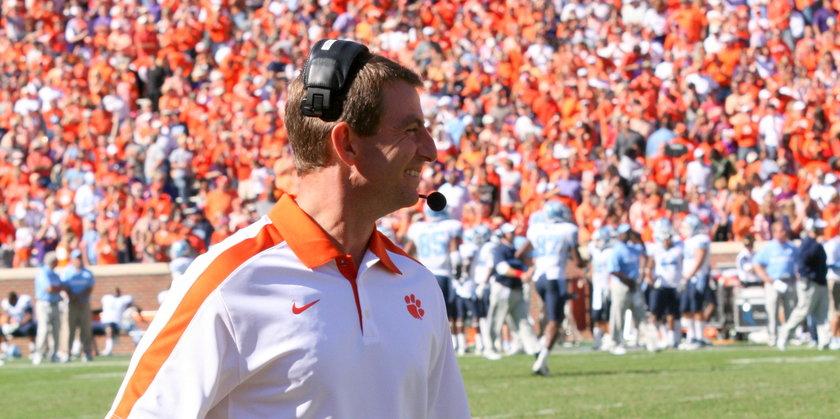 Clemson University head football coach Dabo Swinney (flickr user PDA.Photo)