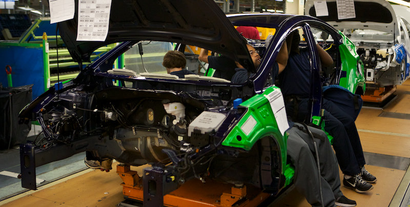 Employees Assemble A Hyundai At The Alabama Plant Near Montgomery.