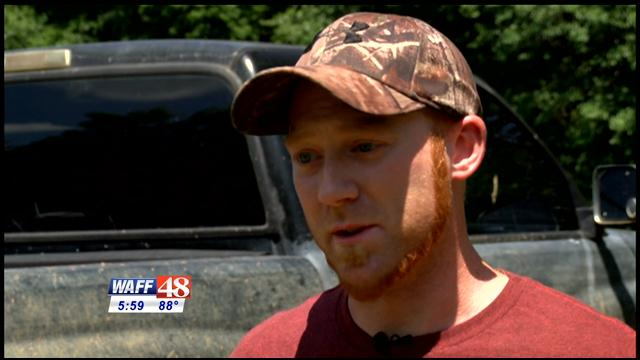 "Tyler Truitt, Huntsville resident living ""off-the-grid."""