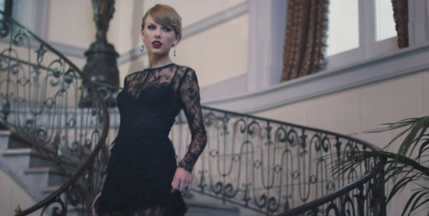 """(Photo screen captured from Taylor Swift's """"Blank Space"""" Music Video)"""
