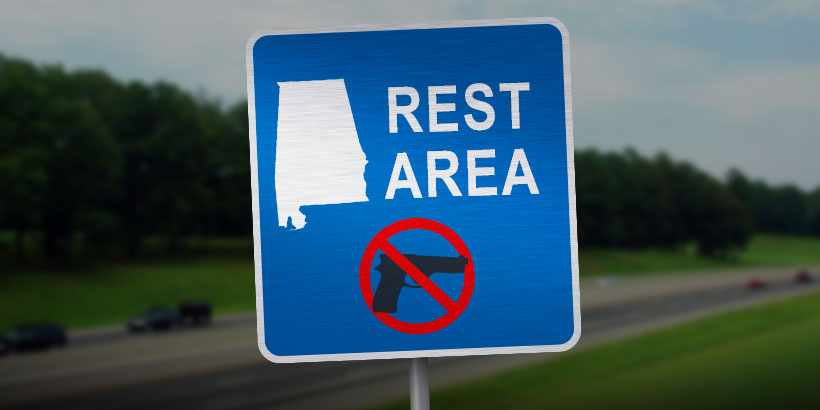 Alabama rest areas gun free zones