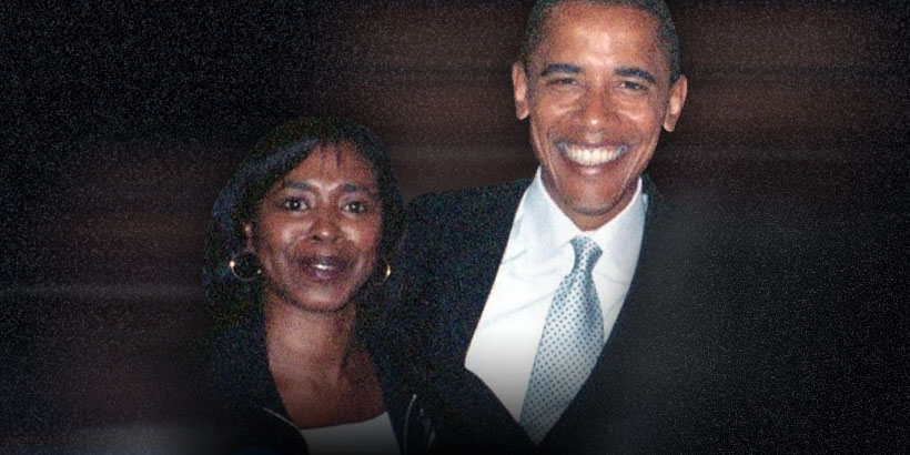 County Commissioner Janet Buskey with then-Senator Barack Obama in 2008 (Buskey's Facebook)