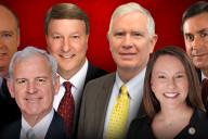Alabama Representatives Robert Aderholt, Bradley Byrne, Mike Rogers, Mo Brooks, Martha Roby, and Gary Palmer