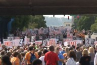 """All Lives Matter"" march in Birmingham, Alabama. (Photo: Screenshot from WBRC video)"