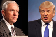 Senator Jeff Sessions (Left) and Republican presidential hopeful Donald J. Trump (Right)