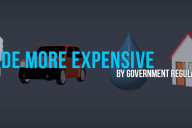 made more expensive by government regulations