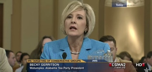 Becky Gerritson testifying before the House Ways and Means Committee on the IRS's targeting of conservative groups.