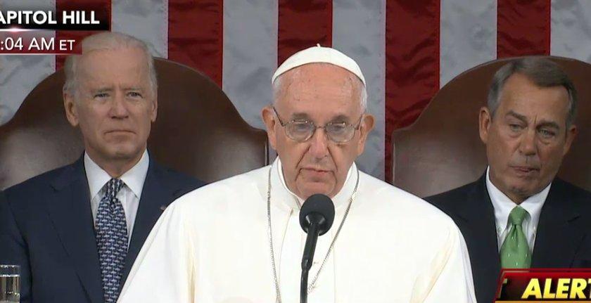 Pope Francis addresses Congress