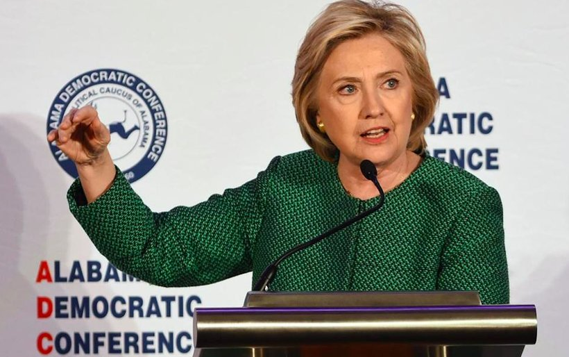 Hillary Clinton speaks to the Alabama Democratic Conference in Hoover, Ala. (Photo: Screenshot)