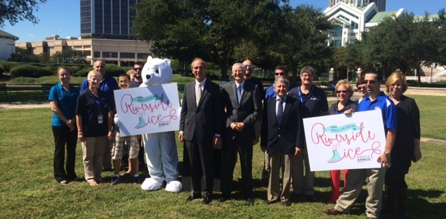 On Oct. 6, Mayor Sandy Stimpson announced the city of Mobile's holiday attraction of Riverside Ice Presented by the Airbus Group.