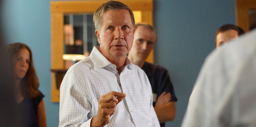 John Kasich in New Market, NH