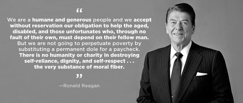Reagan solutions to poverty