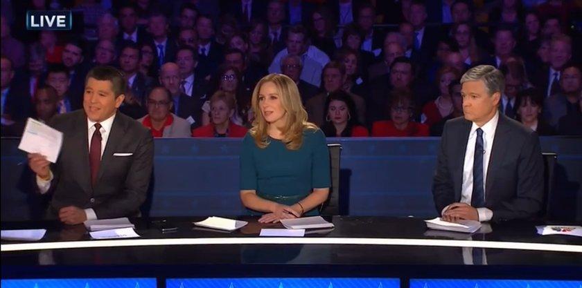 CNBC debate moderators react to Ted Cruz accusing them of liberal bias.