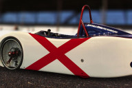 State Flag Electric Car