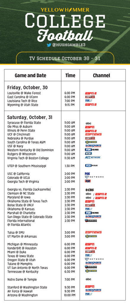 national college football college football schedule for this weekend