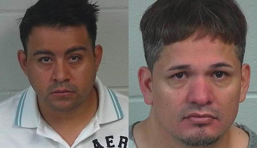 """Humberto Erazo-Medrano, 42, and Ricardo Castaneda, 33, were arrested for their participation in an ongoing """"sex trade operation."""" (Photo: Albertville Police Department)"""