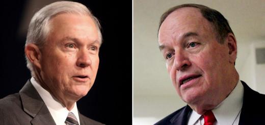 Senators Jeff Sessions (Left) and Richard Shelby (Right)