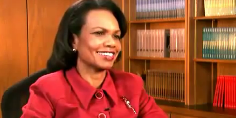 Alabama-native and former U.S. Secretary of State Condoleezza Rice during an interview