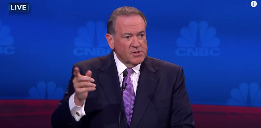 Former Arkansas Governor and current GOP presidential candidate Mike Huckabee (video screenshot)