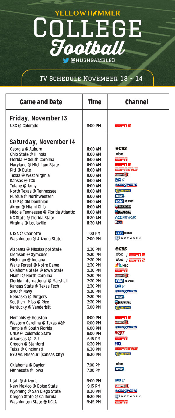 college football games on tv today rivals college football soundoff