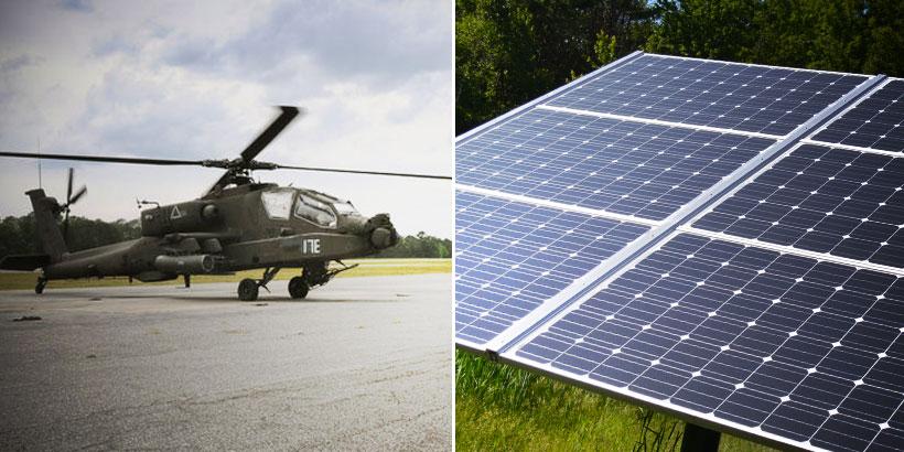 solar power military base