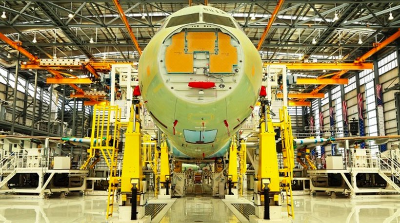 Airbus is producing A320 airplanes in Mobile. (Mike Kittrell/Alabama NewsCenter)