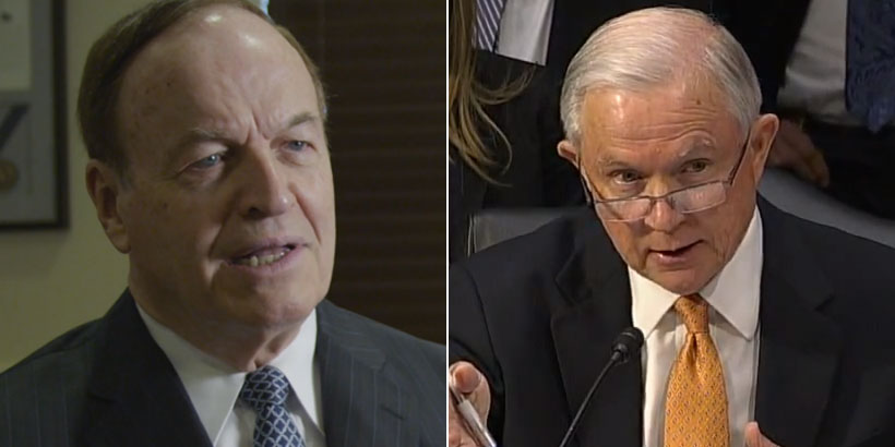 Sen. Richard Shelby (left) and Jeff Sessions (right)