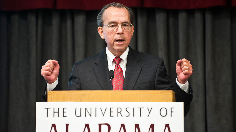 University of Alabama System Chancellor Dr. Robert Witt