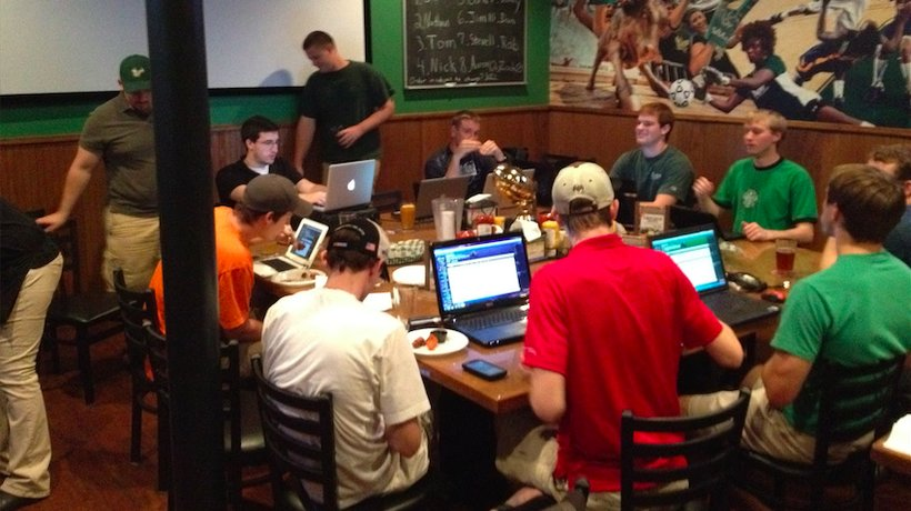 Fantasy football draft parties have proven to be big business for sports bars and restaurants.