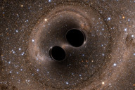 For the first time scientists were able to observe gravity waves as two black holes collided in space.