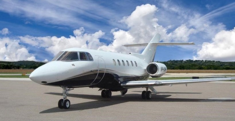 2000 Hawker 800XP, the type of jet aircraft used by the RSA.