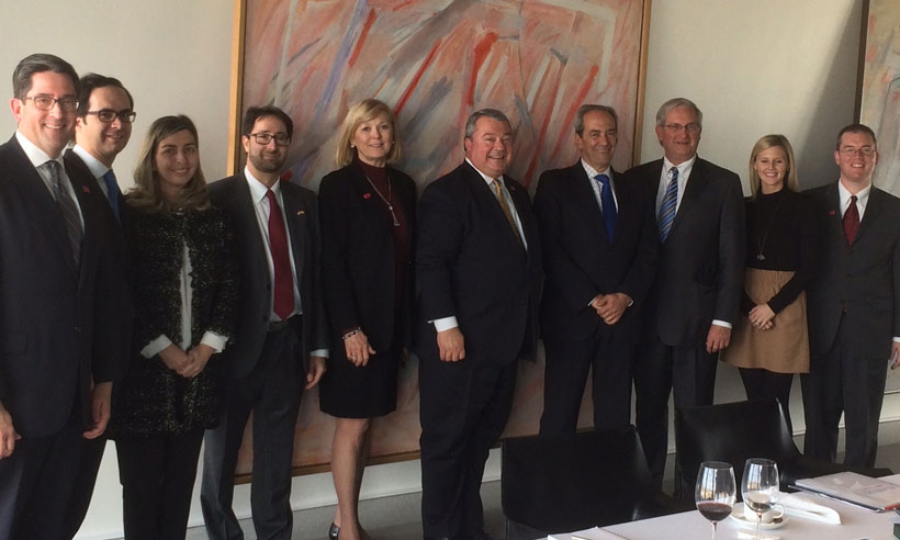 The Alabama trade mission delegation met with BBVA leaders while in Madrid.