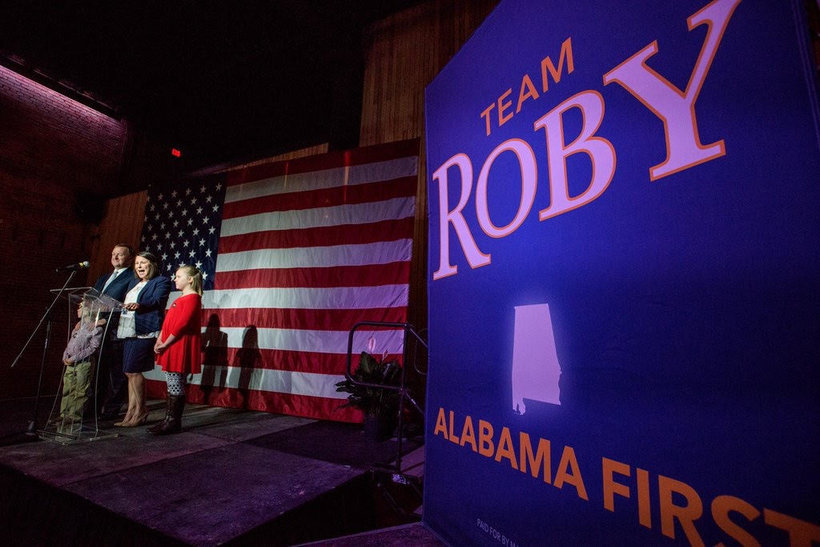Congressman Martha Roby (R-AL2) delivers her victory speech after winning a fourth term in Congress. (Photo: Roby campaign)