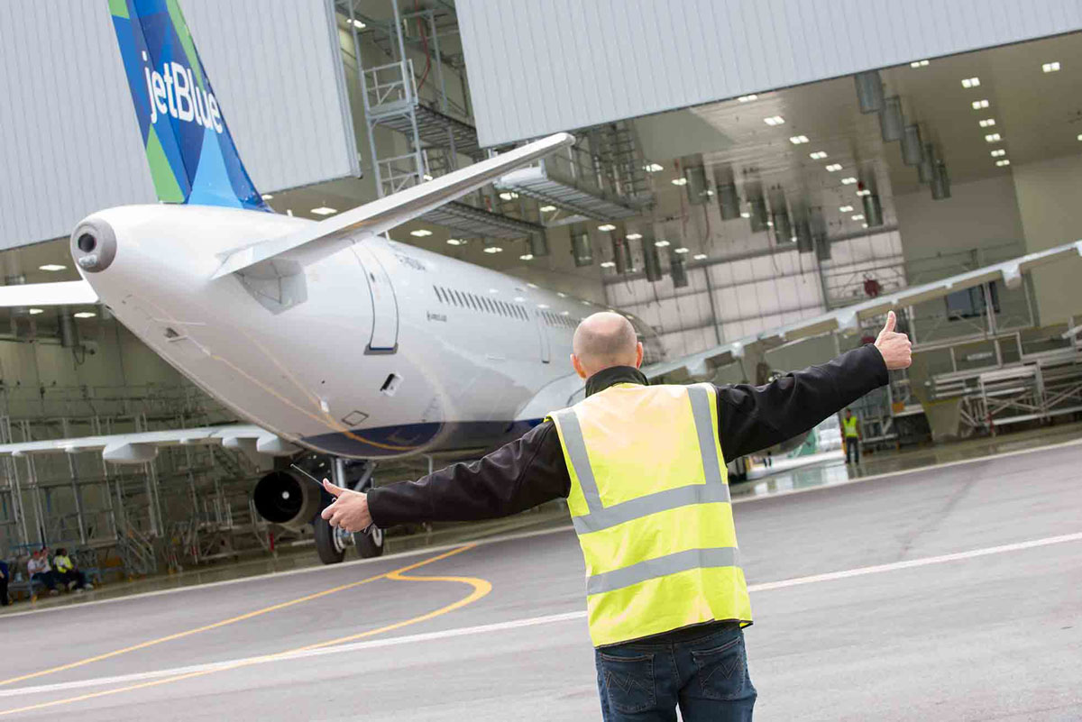 First Alabama-made Airbus aircraft emerges from the paint shop. (Image: Airbus)